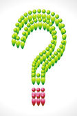 Human Icon Forming Question Mark — Stock Vector