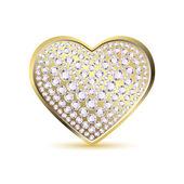 Heart with Diamond — Stock Vector