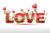 Liefde plant — Stockvector