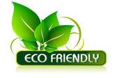 Eco friendly ikona — Stock vektor