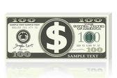Dollar Note — Stock Vector