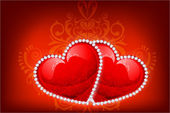 Heart Decorated with Diamonds — Wektor stockowy