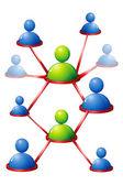 Human Networking — Stock Vector