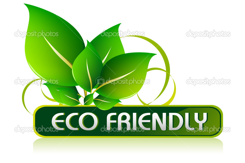 Illustration of icon for eco friendly on isolated white background — Stock Vector #5148050