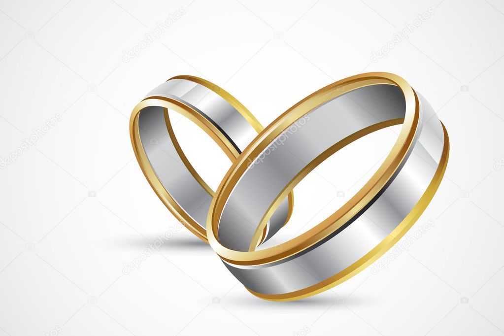 Illustration of pair of engagement rings on abstract background — Stock Vector #5149846