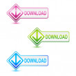 Download Button — Stock Vector
