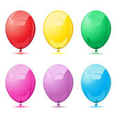 Colorful Balloons — Stock Vector