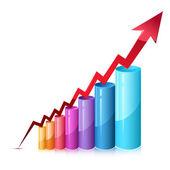 Bar Graph — Stock Vector