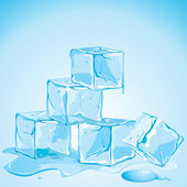 Ice Cubes — Vector de stock