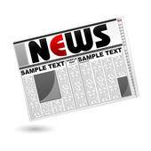 News Paper — Stock Vector
