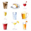 Illustration of different beverges on isolated background — Stock Vector #5160007