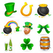 Saint Patrick's Day Elements — Imagen vectorial