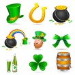 Stock Vector: Saint Patrick's Day Elements