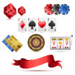 Royalty-Free Stock Vectorielle: Casino Icons