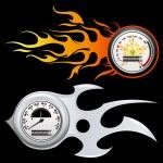Fiery Speedometer — Stock Vector #5163117