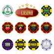 Royalty-Free Stock Vector Image: Casino Fiches