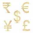 Diamond currency symbol - Stock Vector