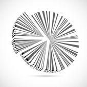 Bar Code Pie Chart — Stock Vector