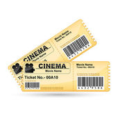 Movie Ticket — Wektor stockowy