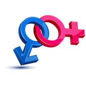 Male Female Sex Symbol — Stock Vector
