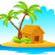 Hut in Island — Stock Vector