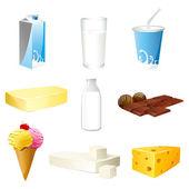 Produtos lácteos — Vetorial Stock