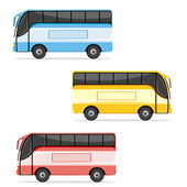 Colorfull Bus — Stock Vector