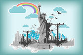 Statue of Liberty — Vector de stock