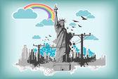Vrijheidsbeeld — Stockvector