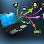 Laptop Application — Stock Vector