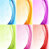 Set of Colorful Background — Stock Vector