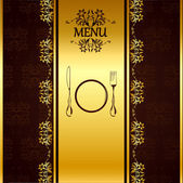 Menu Card Template — Stock Vector