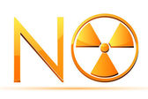 No Nuclear — Stock Vector