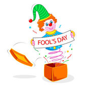 Joker wishing Fool's Day — Stock Vector