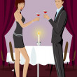 Couple in Party - Stock Vector