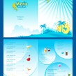 Stock Vector: Menu Template