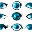 Set of Eye - Stock Vector