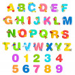 Stock Vector: Alphabet and Number Set