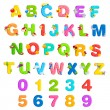 Alphabet and Number Set - Vettoriali Stock
