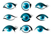 Set of Eye — Vector de stock