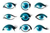 目のセット — ストックベクタ