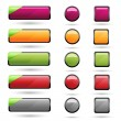 Set of Blank Web Button — Stock Vector