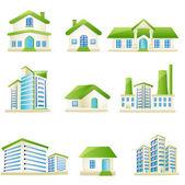 Edificio architettonico — Vettoriale Stock