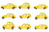 Car in Different Shape — Stock Vector