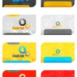 Set of Business Card — Imagen vectorial