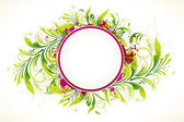 Frame with Floral Background — Stock Vector