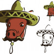 Mexican swine — Stock Vector