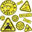 Royalty-Free Stock Vector Image: Virus stickers