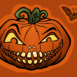 Halloween pumpkin, jack-o-lantern — Stock Vector