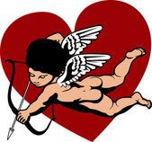 Cherub Cupid — Stock Vector